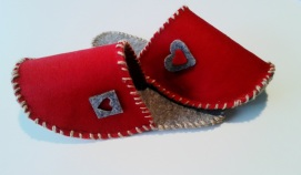 Pantofle z filcu